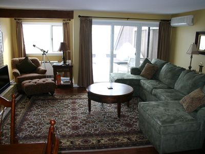 Photo for Slopeside ; SKI IN/OUT * very well appointed* A+ furnishings  bedding  FIREPLACE