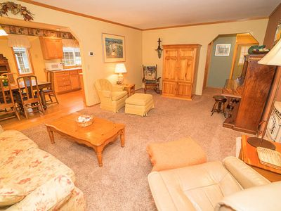 Photo for Pretty, Traditional Single-Level Home Close to Beach has Private Dining Deck!