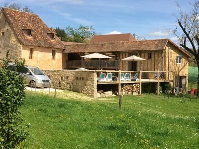 Photo for Eco Lodge le Barradis, country house with 4000m2 and heated pool