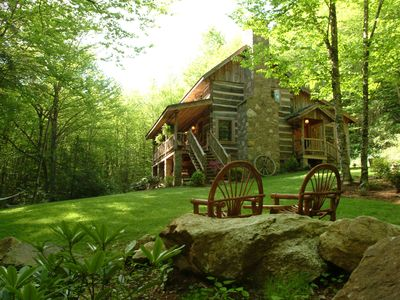 Photo for Sleepy Creek-Antique Log Cabin/4 Acres/Beautiful Stream/Near Boone and BR Pkwy