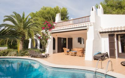 Photo for Top rated Menorca villa, sleeps 9, private pool, 10 mins walk to sea & village