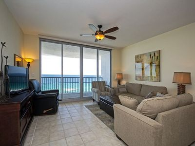 Photo for Stunning Beach view Condo at Emerald Dolphin ~ Large, Private Balcony and Short Walk to Beach!