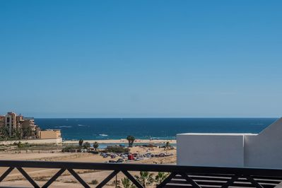 Enjoy the views of Medano Beach from your private sun terrace