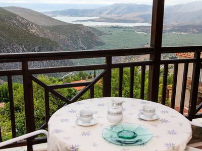 Photo for Apollon Stone Villa in Delphi with Stunning View (3bed/2bath) Sleeps 6