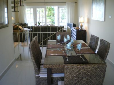 Open plan dining and living areas