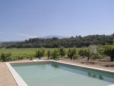 Photo for At the foot of Mont Ventoux, Stone house, conditioned for 6 people