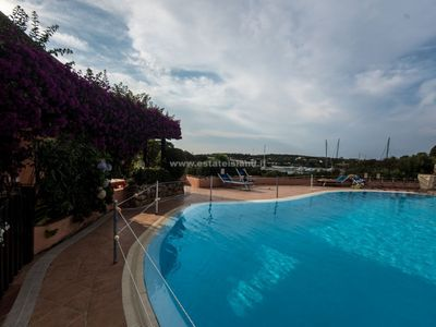 Photo for Apartment in Poro Cervo with pool.