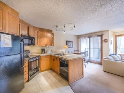 Photo for Ski in Ski out Studio at Iron Horse Resort. mountain views, sleeps 4.