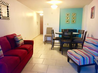 Photo for Combate del Mar condo, full A/C, WiFi, 2 parkings, pool, walk to beach, sleeps 8