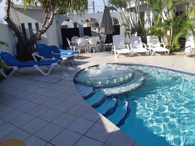 Photo for Aruba private 3 bedroom holiday Villa, pool, walking distance to the beach