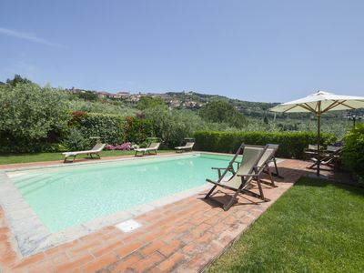 Photo for 7 bedroom Villa, sleeps 14 with Pool, Air Con, FREE WiFi and Walk to Shops
