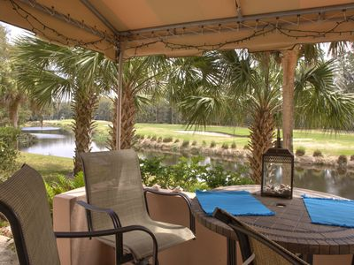 Photo for Remodeled Villa, Panoramic Lagoon & Golf, free beach locker, Wifi,cable, 3 TV's,