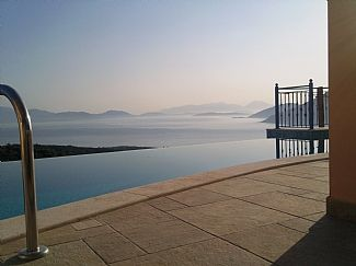 Sunrise over the Ionian Sea from the infinity pool