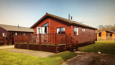 Photo for Pet Friendly Timber Lodge sited in South Lakes Leisure Village with FREE wifi