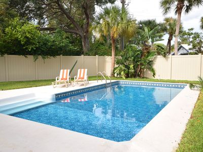 Photo for An Amazing Location!  Near Village and Beach. Fenced Backyard with a Heated Pool