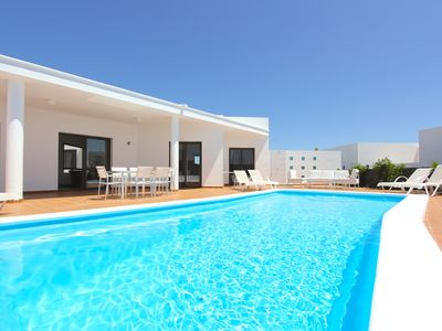 Photo for Villa Palmera is a Modern Villa with Private Heated pool and WIFI in Playa Blanc