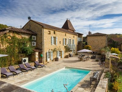 Photo for La Cressonniere - Traditional Period Stone Built Villa with private pool
