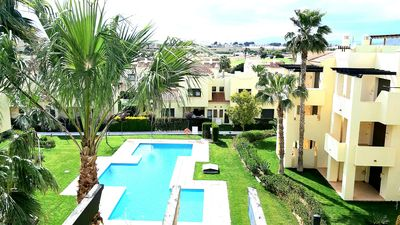 Photo for Roda Golf, South facing Penthouse Apartment, large private rooftop solarium&wifi
