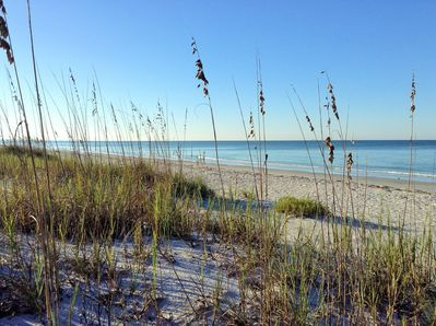 Miles of secluded beach 200 feet from your front door