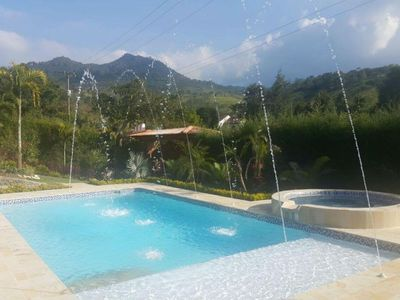 Photo for Finca with pool, jacuzzi, gardens and 4 spacious rooms