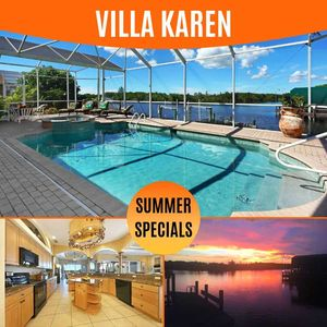 Photo for 38% OFF! -SWFL Rentals - Villa Karen - Beautiful 3 Bedroom Heated Pool Home Sleeps 6