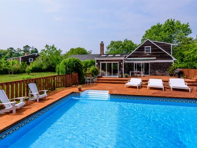 Photo for Sun-Drenched / Modern Beach Home Abutting a Farm with Private Beach in Northfork