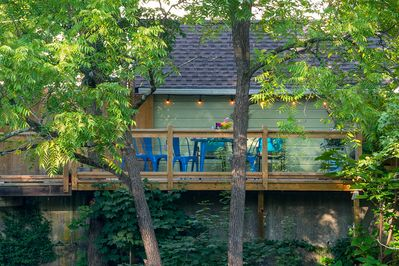 ...and directly below your private perch in the treetops!