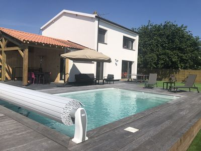 Photo for Family house 130 m2 with heated pool, 5 bedrooms, 10 pers, La tests