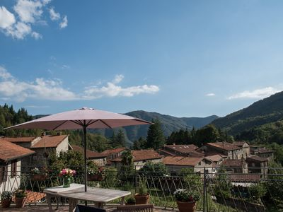 Photo for Village Apartment with Large Private Terrace & Spectacular Mountain Views