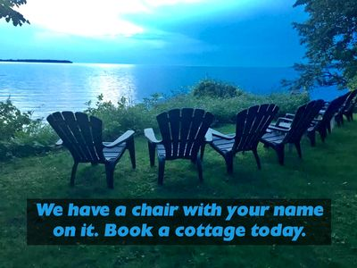Photo for Clean Cozy Door County Cottage. Waterfront Property, Free row boat use + WiFi.