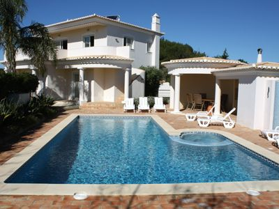 Photo for Fantastic Luxury Villa with air con, solar heated pool, jacuzzi and sea views!
