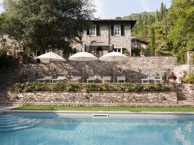 Photo for Old country Villa near Lucca with private saltwater Pool and Wifi