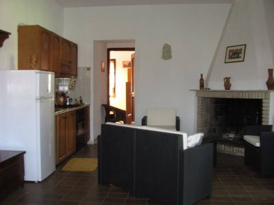 Photo for House at 1500 m.  from the sea, 2 rooms with 4 beds, 2 baths, large porch