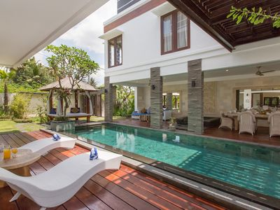 Photo for Spacious & Luxury 2BR Private Pool Villa, 15min walk to Beach, Canggu