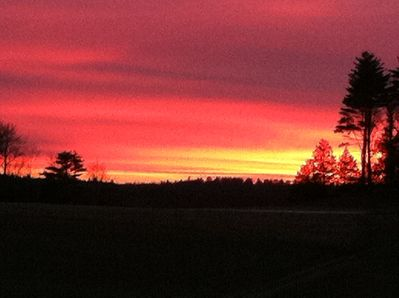 One of many beautiful sunsets here on the farm