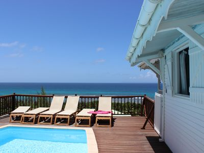 Photo for lagoon pool villa sea view 180 °