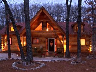 Branson Log Cabin Private Hot Tub Firepl Vrbo