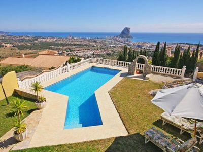 Photo for Villa 926 m from the center of Calp with Internet, Parking, Terrace, Garden (20509)