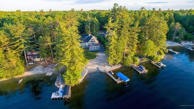 Photo for Beautiful lakeside home with private beach!