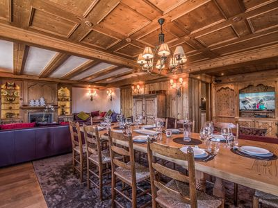 Photo for Spacious apartment, ski in-out, Courchevel 1850