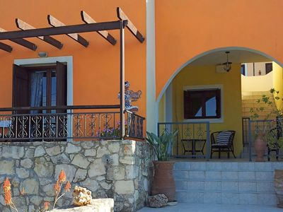 Photo for villa Kostas Walk to the Beach in town Single Storey with Pool, Roof Terrace BBQ