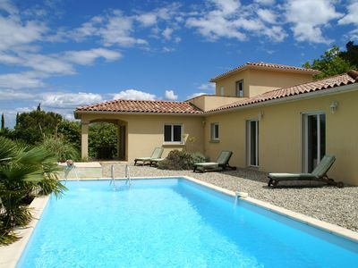 Photo for Beautifully located villa with delightful private swimming pool and lovely views
