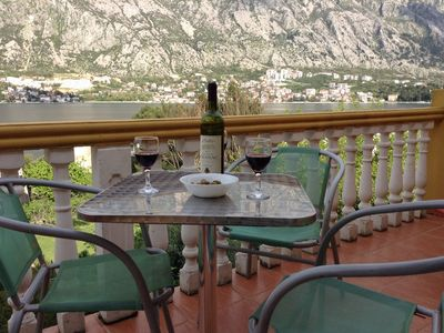Photo for Apartment with Balcony & Sea View in Stunning Location on Kotor Bay.