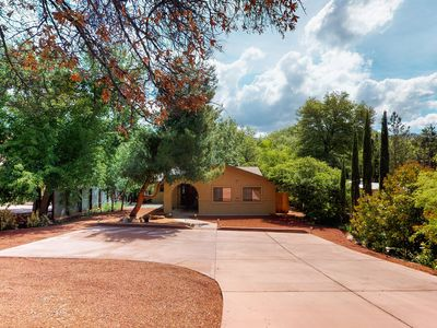 Photo for Beautiful Sedona home, right next to a creek w/ a private hot tub