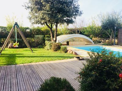 Photo for Cottage in the heart of the vineyards near Uzès