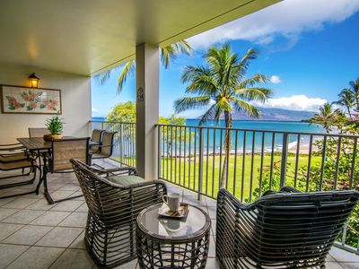 Photo for Amazing Ocean & White Water View STARTING @ $425~  Royal Mauian Ocean Front #402