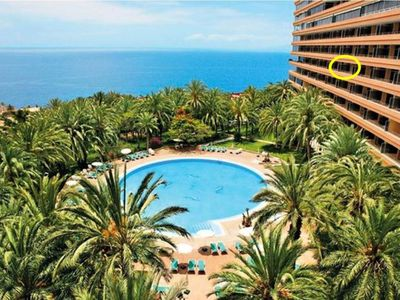 Photo for Appart'4p superb sea view and pool, all comfort Marazul Tenerife South Canary Islands