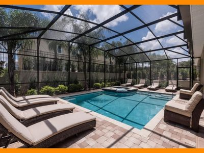 Photo for Encore Resort 80 - private pool, free shuttle to parks & waterpark access