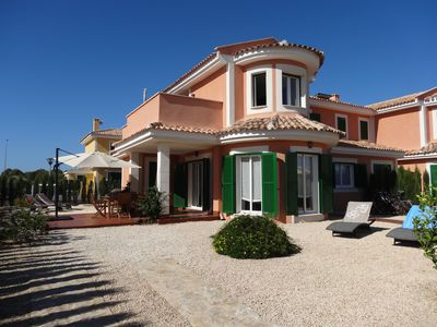 Photo for SUPER OFFER !! Villa with WIFI/garden/bikes/great pool/near beaches