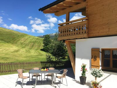 Photo for Alpen Komfort - 1 living room, 2 bedrooms with bath / WC - Fontain's Hus